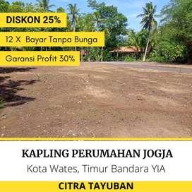 Kavling Citra Tayuban, Wates: 10 Menit Bandara YIA, Garansi Profit 30%