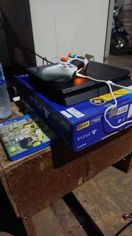 PS4 SLIM 500 GB seri terbaru CUH2218 KOMPLIT