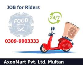 AxonMart Need Riders for Delivery Services in Multan