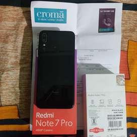 redmi note 7 pro 6gb 128gb black with bill box kit