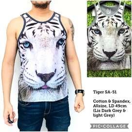 Singlet Lekbong Kutang Fullprint Tiger SA51