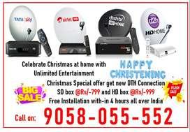 Christmas Special Offer! Tata sky DishTV Airtel DTH Book Now Tatasky H