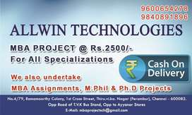MBA projects for all Universities at Rs. 2500/- (Cash on Delivery)