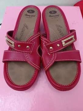 Sandal Sendal Wanita Homyped Merah Selop Hak size 38 Nyaman Empuk