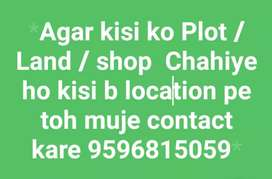 Plot / shop / land for sale in any location