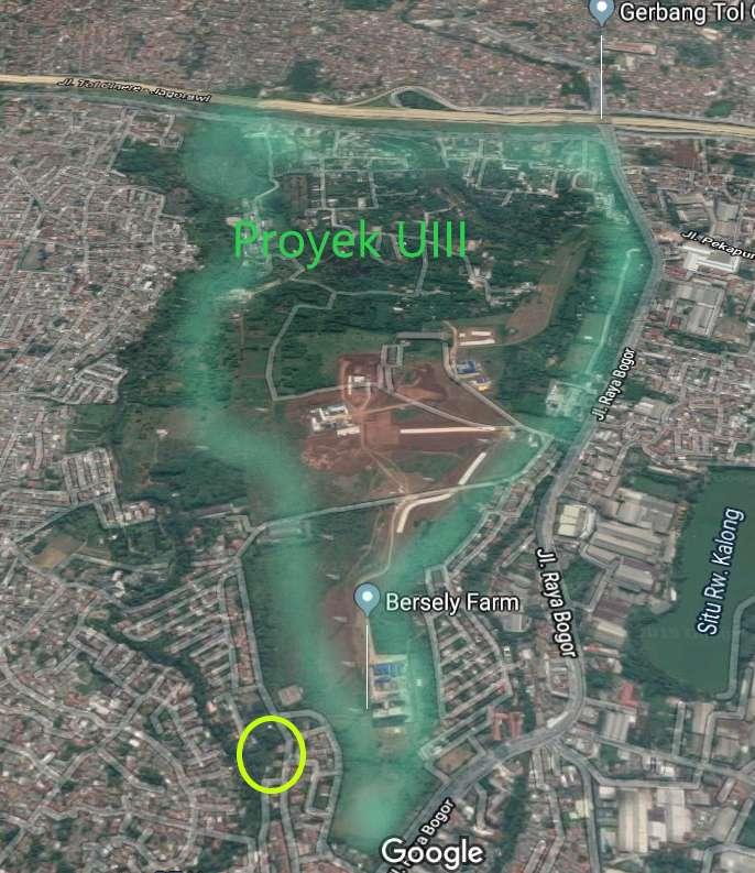 tanah perumahan 400m2 komplek rri dekat uii & jl raya bogor depok