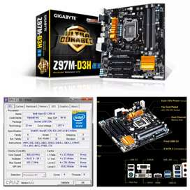 4th gen gigabyte z97 gaming mother with xeon equal of i7 4770 beast