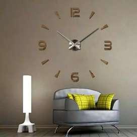 Jam Dinding besar angka garis