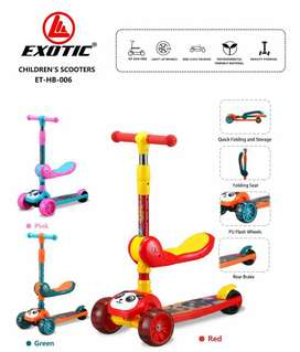 Skuter Exotic ET-HB-006 Scooter Musik Lampu