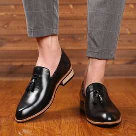Stride pure leather shoes
