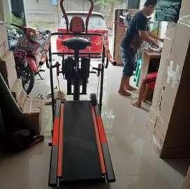 Treadmill manual 6 fungsi orange silahkan order