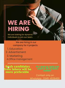 No one will be jobless anymore. Apply now. No age / gender limit
