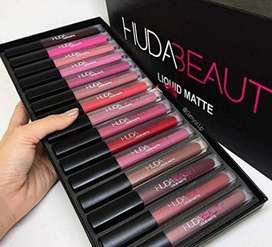 Huda_Beauty Pack of 12 Colors Liquid Matte Lipstick And Lipgloss Set