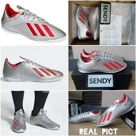 Adidas X 19.4 IN F35340 Silver Sepatu Futsal Original