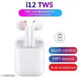 TWS I 12 Airpods Wireless earbuds with touch sensor Bluetooth Headset