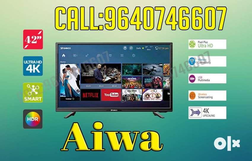 "AIWA 42"" smart samsung panel slim brand led tv(Attapur) 0"