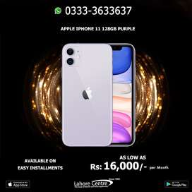 iPhone 11 128GB  Available On Installment With 0% Advance.