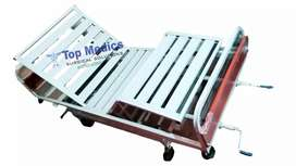 Two Crank manual Patient Bed cheep price low Hight