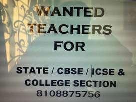 WANTED A TEACHERS
