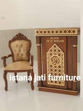 Tersedia Mimbar masjid podium minimalis terbaru