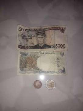uang kertas dan koin lama