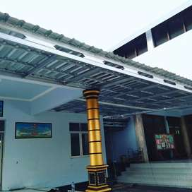 Spesial kanopi dan rangka atap baja ringan,termurah dan bergaransi