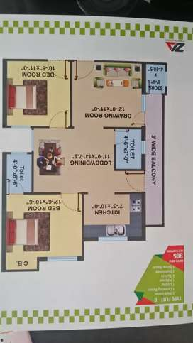 3 BHK flat at prime location