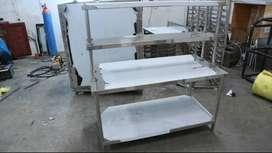 Meja Stainless Steel Extra Shelves Harga Murah