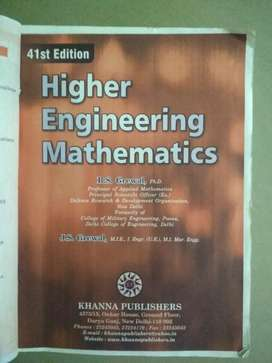 41st edition Higher Engineering Mathematics GREWAL