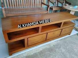 Ready Buvet Tv Minimalis Bahan Kayu Jati Monggo @500