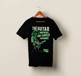 T-Shirt Kaos Band Gitar Gitaris BRYAN MAY QUEEN
