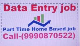 Online/Offline Data entry JOB Part time work Home Based Job Typing Job
