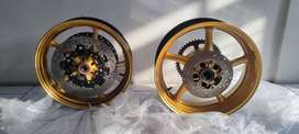 Paket Velg Racing Original Yamaha R6/MT09 2014 Gold Edition zx25r cbr