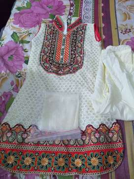Baby embroidery frock and tozer