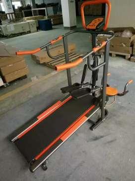 Grosir alat Fitnes Jateng # Manual Treadmil FC 8002 / 4Fungsi