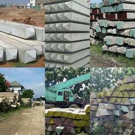 Tiang Pancang Beton K500, Squere Pile, Mini Pile, Presstressed . Murah