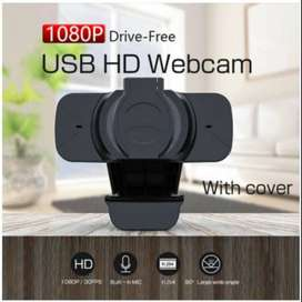 WB91 Webcam Web Cam 1080p with Buit in Mic and Privacy Cover