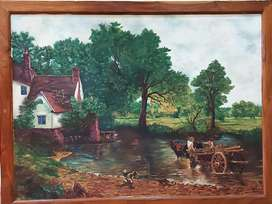 Canvas Painting with wooden frame