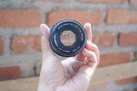Manual Pentax 50mm F1.4 + adapter to Fujifilm