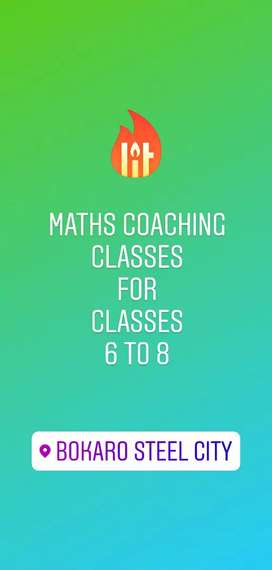 Maths Tutor for Classes 6 to 8
