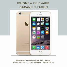 IPHONE 6 PLUS 64GB - GARANSI 1 TAHUN - CASH/KREDIT