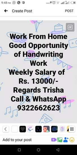 Good Opportunity of  work from home