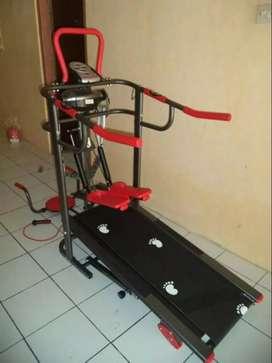 Alat  olah raga 6 fungsi treadmill  manual