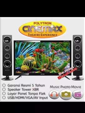 Ready Lagi POLYTRON TV LED 24 inch - PLD24T8511 + SPEAKER TOWER BARU