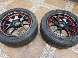 Chrome Rim with tyre for sale