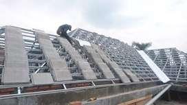 Rangka atap baja ringan dan kanopi alderon dan spandek