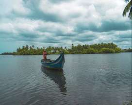 Lakeside Kerala Plot for Sale at Unbeatable Price, road on both sides