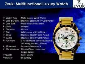 ZVUK Gold Plated Watch Sealed