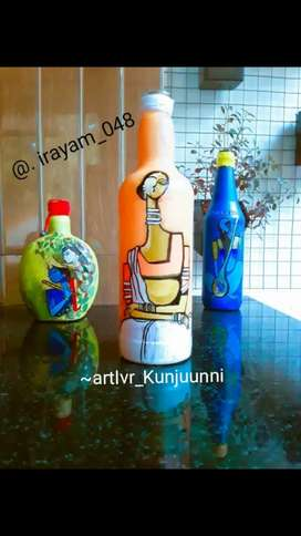 Bottle art painting