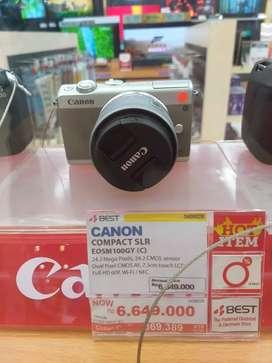 Bunga 0% camera Canon Eosm100 cicilan tanpa kartu kredit